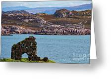 Iona Ruins And Mull Hills Greeting Card