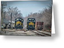 ioneer Lines PREX 912 and 806 at Evansville Indiana Greeting Card