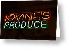Iovines Produce Greeting Card