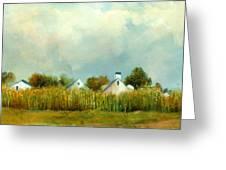 Iowa Cornfields Greeting Card