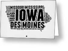 Iowa Word Cloud 2 Greeting Card