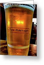Ipa Beer In Live Nation Cup At Shoreline Amphitheatre During Dead And Company Greeting Card