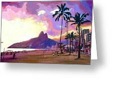 Ipanema Sunset Greeting Card