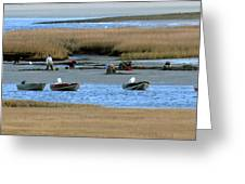 Ipswich River Clammers 2 Greeting Card