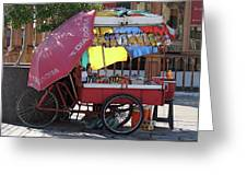 Iquique Chile Street Cart Greeting Card