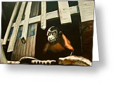 Iquitos Monkey Greeting Card