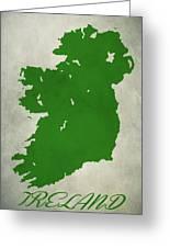 Ireland Grunge Map Greeting Card