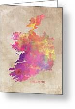 Ireland Map  Greeting Card