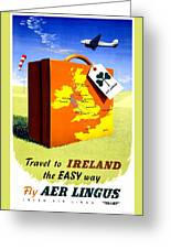 Ireland Vintage Travel Poster Restored Greeting Card