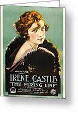 Irene Castle In The Firing Line 1919 Greeting Card