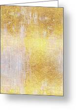 Iridescent Abstract Non Objective Golden Painting Greeting Card