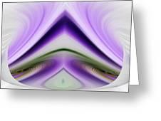 Iris Abstract Greeting Card by Linda Phelps