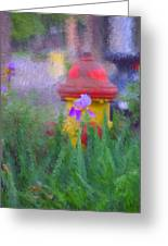 Iris And Fire Plug Greeting Card