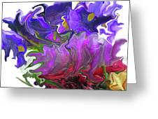 Iris And Tulip Greeting Card