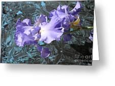 Iris Azulez Greeting Card