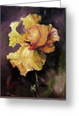 Iris Gold Greeting Card