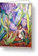 Iris Grantor Of Hope Wisdom And Inspiration - Watercolor Greeting Card