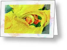 Iris In Abstract Greeting Card