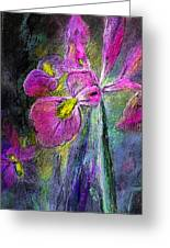 Iris In The Night Greeting Card