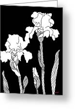 Iris Notan Greeting Card