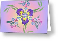 Iris Pinwheel Greeting Card