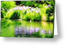 Iris' Reflection Greeting Card