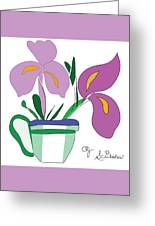 Iris Scribble Greeting Card
