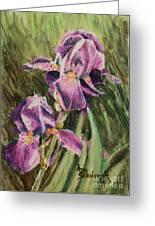 Iris Twins Greeting Card