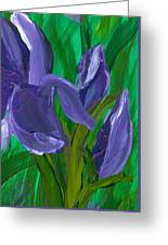 Iris Up Close And Personal Greeting Card