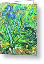 Irises Ala Van Gogh Greeting Card