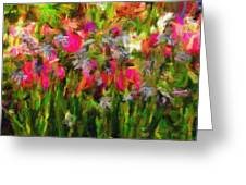 Irises Greeting Card
