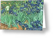 Irises Greeting Card by Vincent Van Gogh