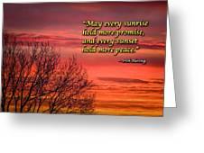 Irish Blessing - May Every Sunrise... Greeting Card