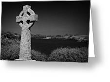 Irish Celtic Cross Overlooking Lake Greeting Card