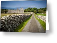 Irish Church Ruins Greeting Card