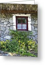 Irish Cottage Window County Clare Ireland Greeting Card