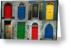 Irish Doors Greeting Card