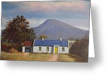 Irish Farmhouse Near Croagh Patrick Greeting Card