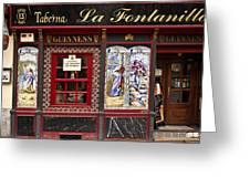 Irish Pub In Spain Greeting Card