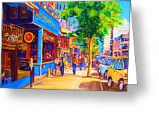 Irish Pub On Crescent Street Greeting Card