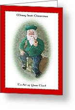 Irish Santa Card Greeting Card