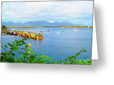 Roundstone Seaport Greeting Card