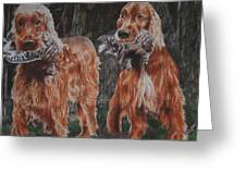 Irish Setters Greeting Card