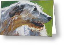 Irish Wolfhound Beauty Greeting Card