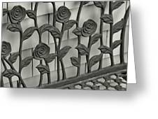 Iron Blooms Greeting Card