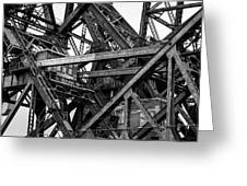 Iron Bridge Close Up In Black And White Greeting Card