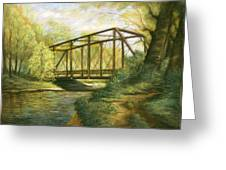 Iron Bridge Over Cicero Creek Greeting Card