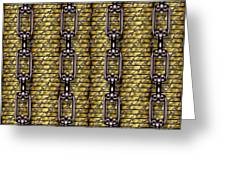 Iron Chains With Money Seamless Texture Greeting Card