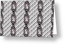 Iron Chains With White Background Seamless Texture Greeting Card