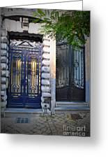 Iron Door Of Brussels Greeting Card